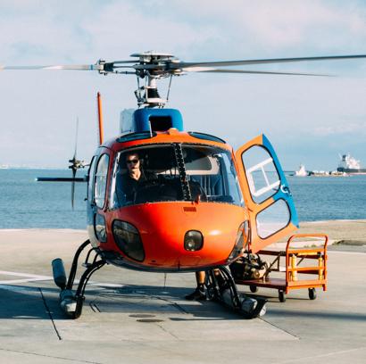 Vrtulníkem až k nám